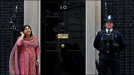 Baroness Warsi at 10 Downing Street