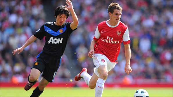 bfa22a019 Park Ji-Sung and United team-mates struggled to contain Arsenal s midfield