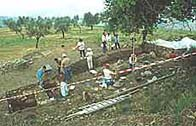 A photo of the dig site at Lugnano
