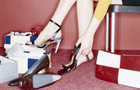 What to wear style rule generator (Image: woman trying on shoes)