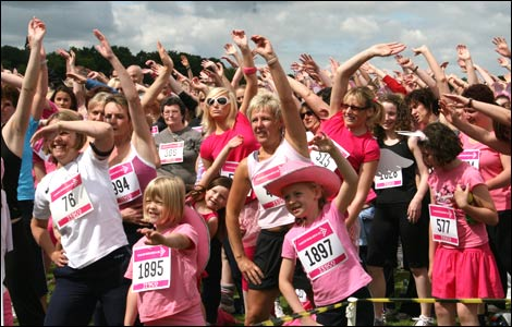 Race for Life 2008 at West Mid showground