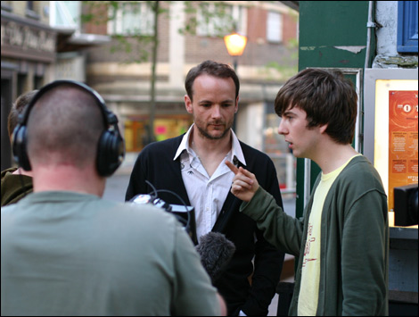 Tom and Ant being filmed by BBC Kent.