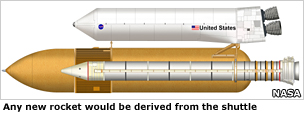A shuttle-derived concept for a heavy-lift rocket