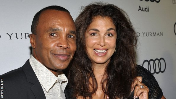 Sugar Ray Leonard and second wife Bernadette