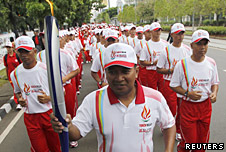 SEA Games torch relay in Jakarta