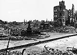 Photo of a ruined Dresden, June 1947