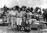 Jewish women before their execution, Liepaja, Latvia