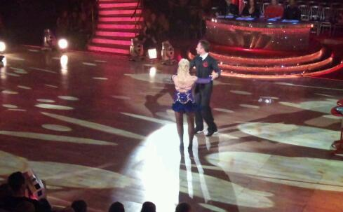 Pamela Stephenson and James Jordan in the Strictly dress rehearsal