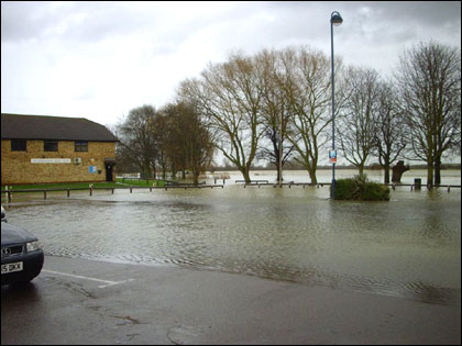 Hunts Boat Club flooded