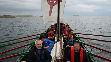 Seven Ages Of Britain: David Dimbleby rowing to Iona with Currach crew