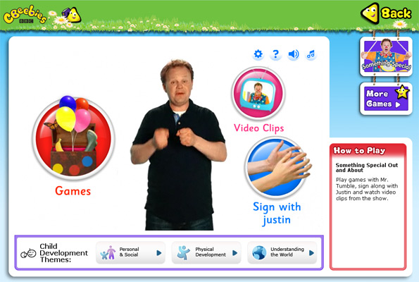 Justin on a web page introducing options