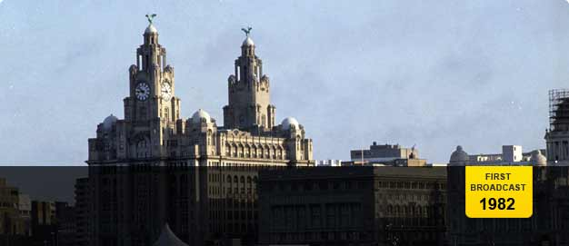 The Liver Buildings on Liverpool's waterfront. The famous Liver birds are perched atop the building'