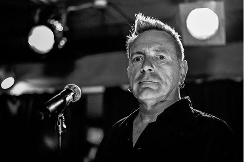 John Lydon, lead signer of The Sex Pistols and Public Image Ltd performing on stage