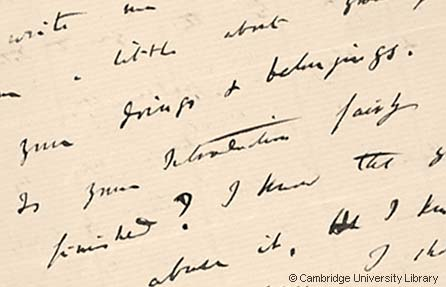 Darwin letter © Cambridge University Library