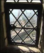 View out of the castle window
