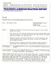 Audience Response Report on 'Doctor Who' in 1984.
