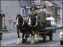 Wadworth Breweries deliver by horsepower