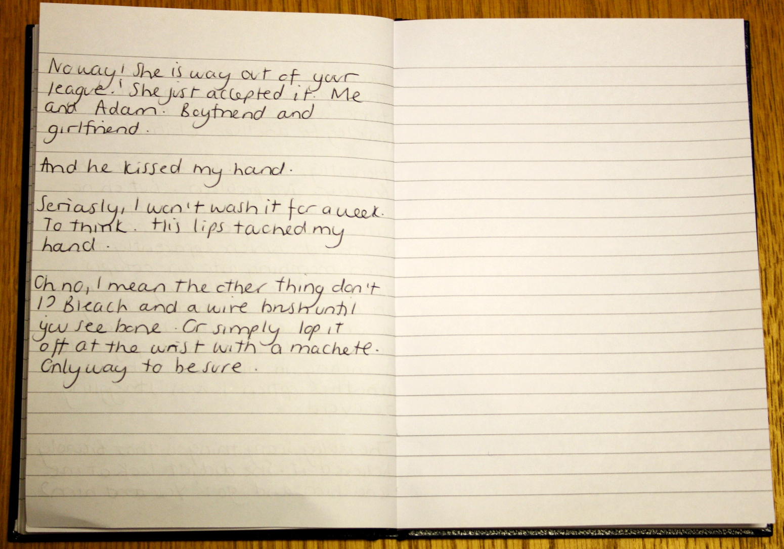 Christa's journal entry 'Stalked by the Dead' Page 3