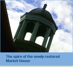 photo of the spire of the market house
