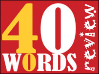 Forty Words review graphic