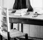 Dylan Thomas's writing desk, 21 December 1953.