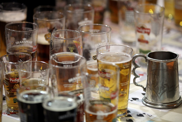 Glasses of beer. Getty Images