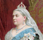 This painting show Queen Victoria on the throne, Victoria was the Queen of England for over 60 years.