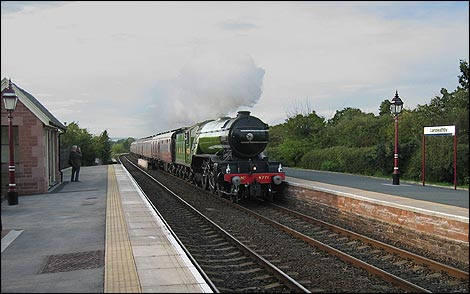 """Green Arrow"" passing Langwathby"