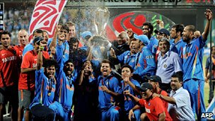India team after winning the World Cup