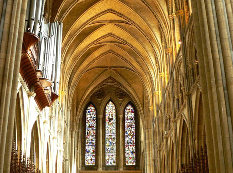 Inside Truro Cathedral by Angie Thornton