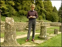 Angela Rippon at Chedworth Villa