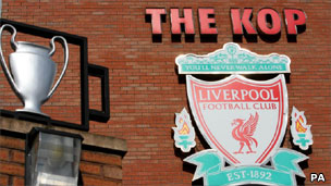 Sign outside Liverpool football club