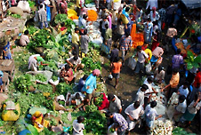 A market in India