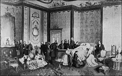 1861: Prince Albert on his deathbed