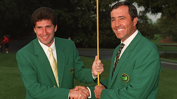 Jose Maria Olazabal (left) and Seve Ballesteros