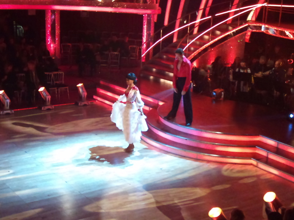 Michelle Williams and Brendan Cole in the Strictly dress rehearsal