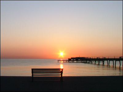 Sunrise over Deal. Photo by Kevin Newson.