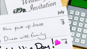 Wedding list, diary and calculator