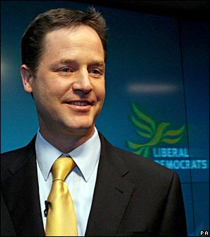 Nick Clegg at the Liberal Democrats' manifesto launch