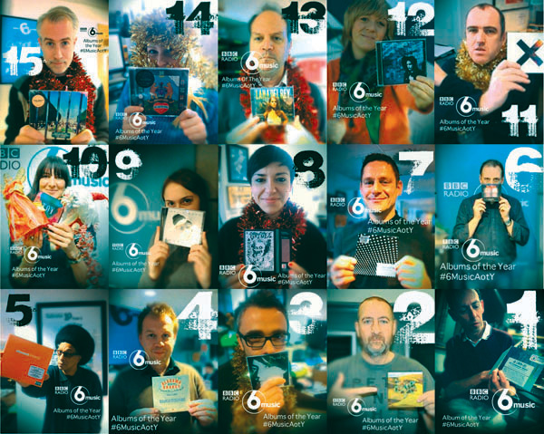6 Music DJs and Staff with their albums of the year