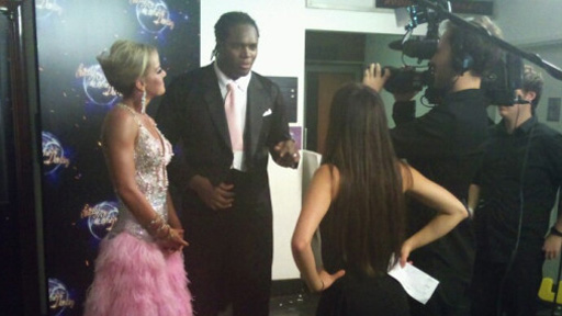 Audley Harrison and Natalie Lowe after their dance.