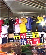 huge discount 3bfb7 f1498 BBC Inside Out - Fake football shirts