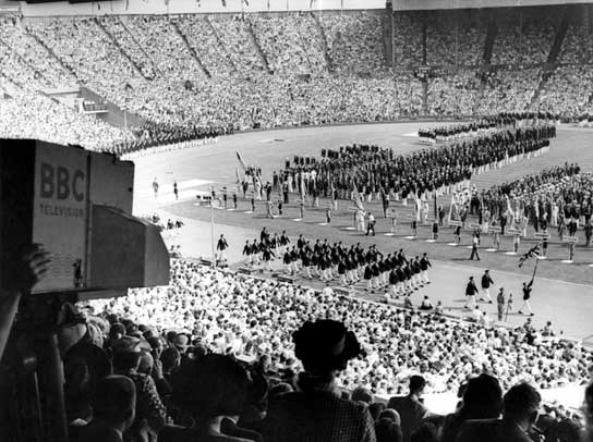 The opening ceremony of the 1948 Olympics Games.