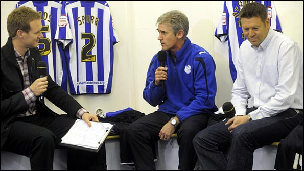 Speaking to Alan Irvine and Chris Waddle in the Hillsbrough changing roomspg