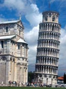 Image of the leaning tower of Pisa