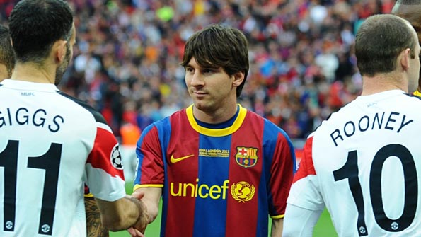 Lionel Messi before the 2011 Champions League Final