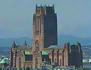 Photograph showing Liverpool's Anglican Cathedral