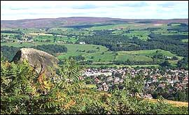 Ilkley as seen from the Cow and Calf Rocks