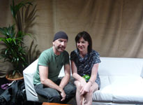 The Edge and 6 Music's Julie Cullen