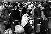 Photo of displaced German war victims wait in Berlin for transportation home